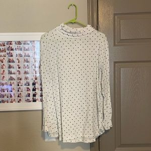 LOFT Tops - Loft Polka Dot Turtle Neck